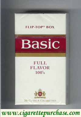 Discount Basic Full Flavor 100s cigarettes flip-top box