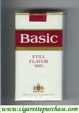 Discount Basic Full Flavor 100s cigarettes soft box
