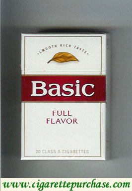 Discount Basic Full Flavor cigarettes Smooth Rich Taste