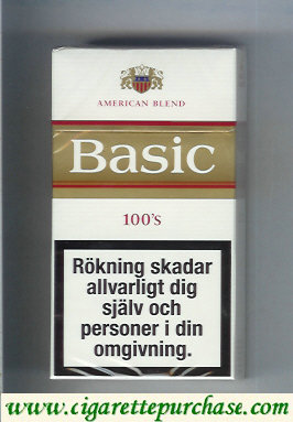 Discount Basic Gold 100s cigarettes hard box