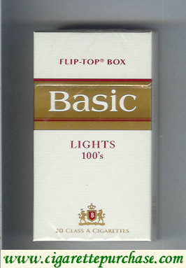 Discount Basic Lights 100s cigarettes hard box design 2
