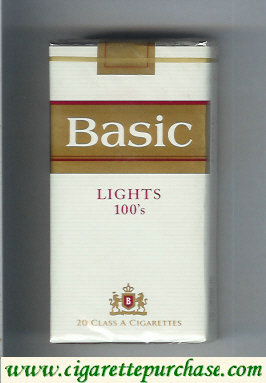 Discount Basic Lights 100s cigarettes soft box design 2