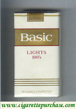 Discount Basic Lights 100s cigarettes soft box