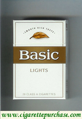 Discount Basic Lights cigarettes Smooth Rich Taste hard box