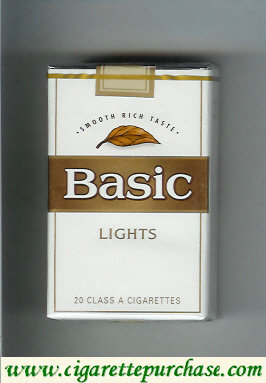 Discount Basic Lights cigarettes Smooth Rich Taste soft box