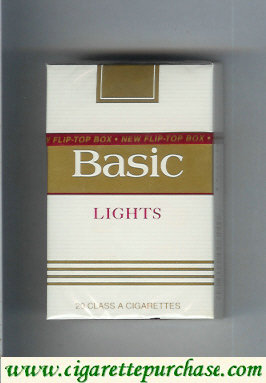 Discount Basic Lights cigarettes hard box