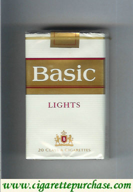 Discount Basic Lights cigarettes soft box design 2