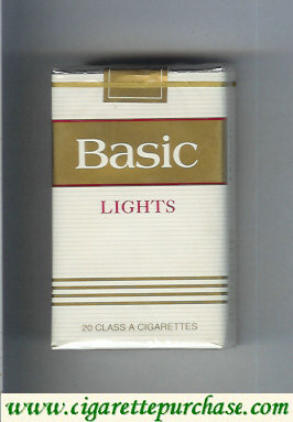 Discount Basic Lights cigarettes soft box