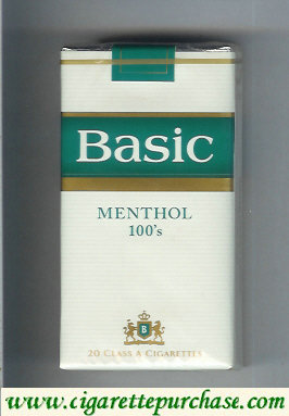 Discount Basic Menthol 100s cigarettes Filter soft box