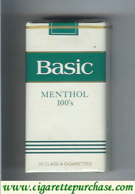 Basic Menthol 100s cigarettes Filter