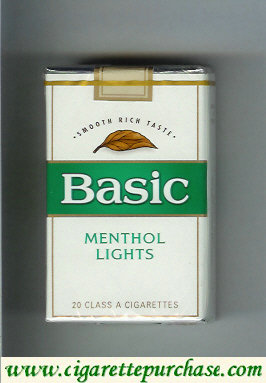 Discount Basic Menthol Lights cigarettes Smooth Rich Taste soft box