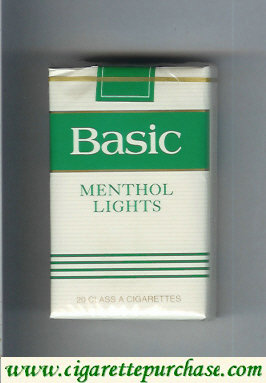 Discount Basic Menthol Lights cigarettes soft box