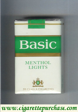 Discount Basic Menthol Lights soft box cigarettes