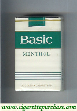 Basic Menthol cigarettes Filter soft box