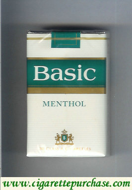 Discount Basic Menthol filter cigarettes soft box