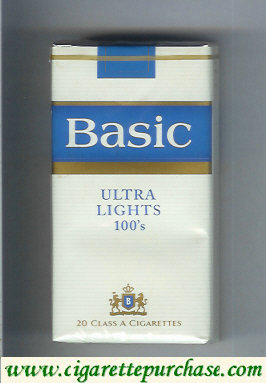Discount Basic Ultra Lights 100s cigarettes soft box design 2