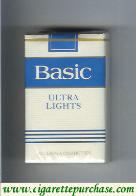 Discount Basic Ultra Lights cigarettes soft box