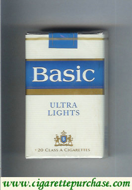 Discount Basic Ultra Lights ciggarettes soft box