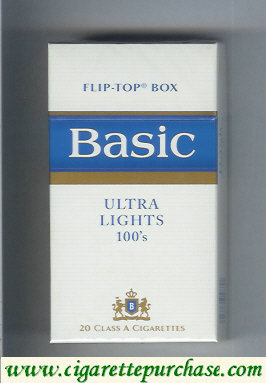 Discount Basic Ultra Lights 100s hard box cigarettes