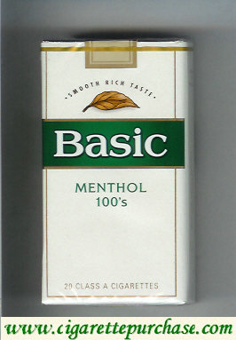 Discount Basic cigarettes Smooth Rich Taste Menthol 100s soft box