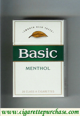 Discount Basic cigarettes Smooth Rich Taste Menthol hard box