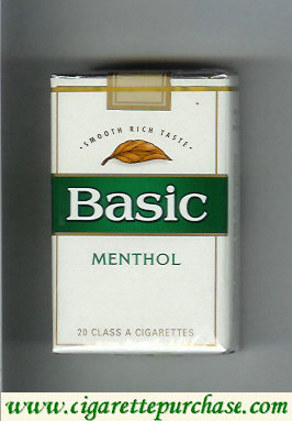 Discount Basic cigarettes Smooth Rich Taste Menthol soft box