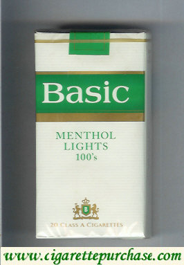 Discount Basic design 2 Menthol Lights 100s cigarettes soft box