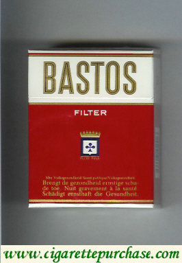 Discount Bastos Filter short cigarettes red hard box