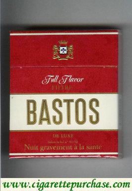 Discount Bastos Full Flavor De Luxe Filtre cigarettes 25 hard box