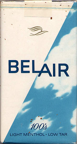 Belair 100s Light Menthol cigarettes Low Tar