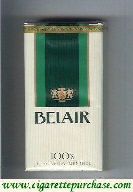 Discount Belair 100s Menthol cigarettes soft box