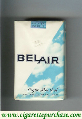 Belair Light Menthol cigarettes soft box