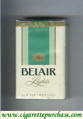 Belair Lights Low Tar Menthol cigarettes