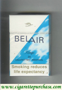 Belair Menthol Filter cigarettes hard box