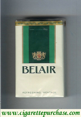 Belair Refreshing Menthol cigarettes soft box