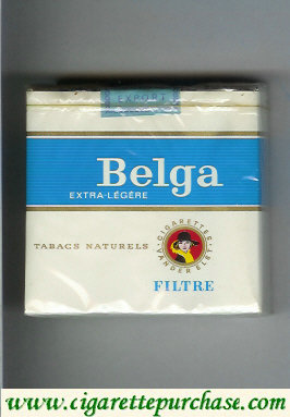 Belga Extra Legere Filtre 25 cigarettes white red soft box