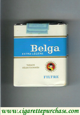 Belga Extra Legere Filtre cigarettes white red soft box