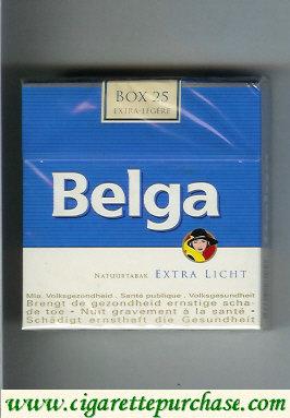 Discount Belga Extra Licht cigarettes Natuurtabak 25 box