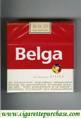Belga Filter cigarettes red white box 25