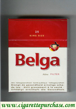 Belga Filter cigarettes white red king size 25