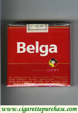 Belga Licht red cigarettes soft box