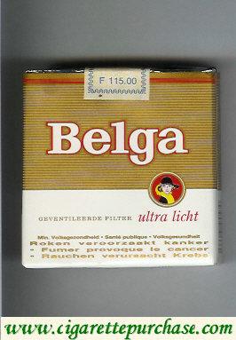 Discount Belga cigaretrtes Ultra Licht gold whit soft box