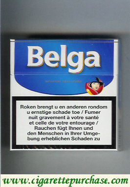 Belga cigarettes white blue hard box
