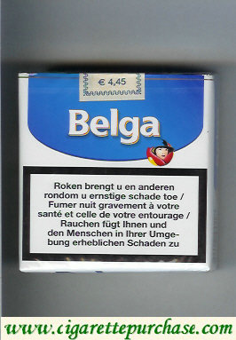 Belga cigarettes white blue soft box