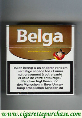 Belga white gold cigarettes hard box