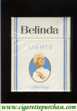 Belinda Lights cigarettes hard box