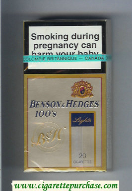 Benson & Hedges Lights 100s cigarettes Filter Tipped Premium Quality lights