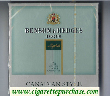 Benson & Hedges Menthol Lights 100s cigarettes duty-free