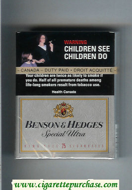 Benson Hedges Special Ultra 25 cigarettes