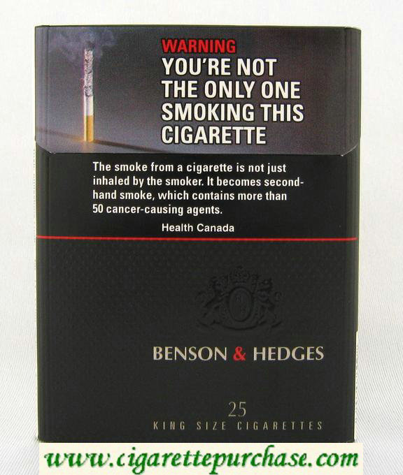 Benson and Hedges Black cigarettes king size